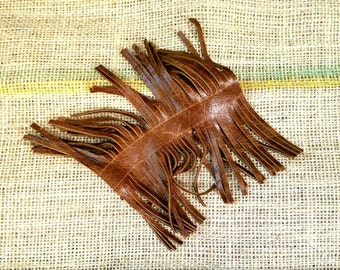 Pre-cut Leather Fringe by the Inch Precut Genuine Leather Fringe Tassels Sewing Supplies Jewelry Supplies