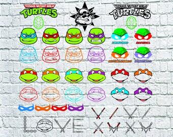 43 Teenage Mutant Ninja Turtles Clip Arts, Ninja Turtles Svg Bundle, TMNT Svg, Turtles Svg, TMNT Digital file download svg, eps, dxf, png