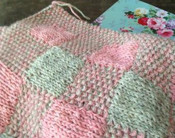 Plaid Double-Knit Blanket Pattern