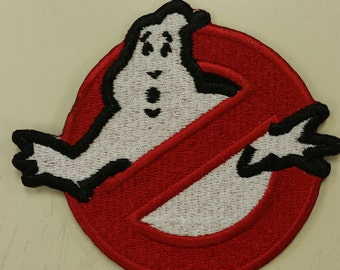 Ghostbuster Iron On or Sew On Embroidered Patch, Cosplay Patch for Ghostbusters, Ghost Embroidered Patch, Fun Novelty Patch