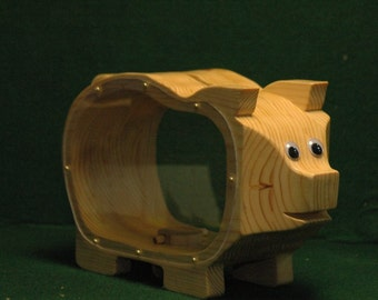 Wooden Piggy Bank