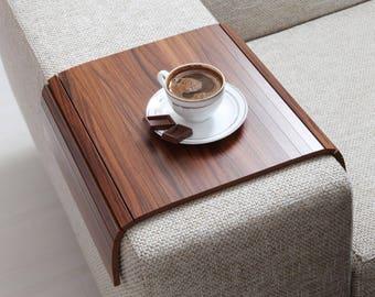 Sofa Arm Tray, Sofa Tray Table, Coffee Table, Sofa Table, Wood Tray, Sofa Arm Table, Gift, Home&Living, KNDC3040TB