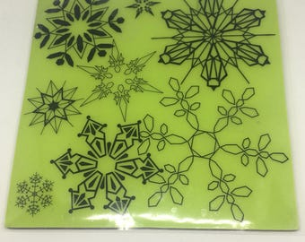 Background Rubber Stamp / Snowflakes / Winter Stamps / Scrapbooking / Card Making Supplies / Arts & Crafts