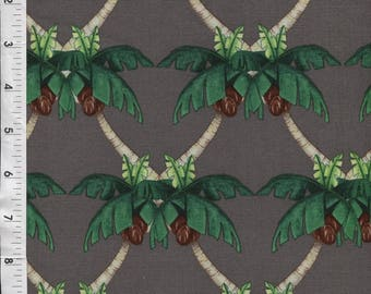 "Michael Miller ""Paradise Cove"" Hearts of Palms Gray Fabric"