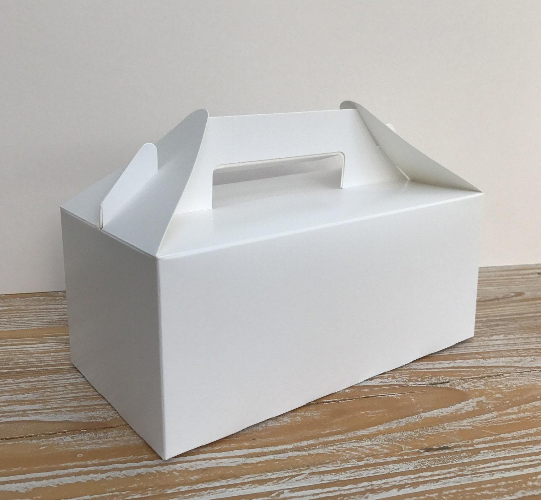 5 x Plain White Kraft Boxes | Christmas Eve Treat Box | Lunch Box ...