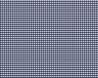 Navy Small Gingham Fabric by Riley Blake Designs - Half Yard - 1/2 Yard - C440-21