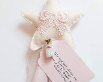 "The ""Vintage Pink Bow"" Fairy Wand"