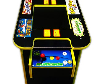 Please see shop announcement 60 in 1 multicade cocktail two player sit down arcade game pac man donkey kong vintage