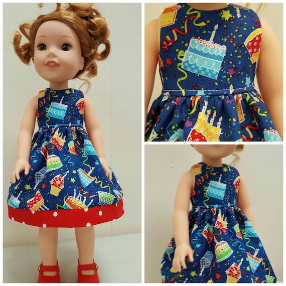 Happy Birthday Dress for Willie Wisher 14.5 Inch Doll