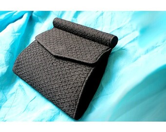 1930 black fabric CLUTCH