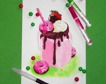 A4 strawberry freakshake