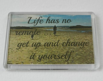 Fridge Magnet ('Quoto' design by LazyDaisy.ktj - Life has no ...)