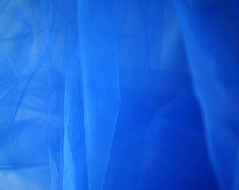 "Royal Blue Tulle Fabric 56"" Wide Per Yard"