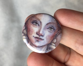Button.....mushroom lady