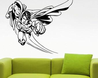 Superman Sticker Wall Decal Comics Superhero Living Room Decor Wall Art Murals Teen Room Decor Waterproof Stickers 4exx