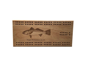 Personalized 2-Track Cribbage Board