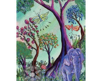Elephant Forest by David Doyle .. Limited Edition Archival Print