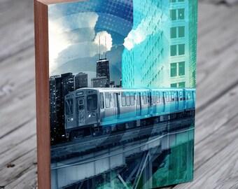 Chicago El - Chicago Architecture - Chicago L Train - Chicago El Train - Chicago Abstract Art