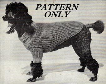 Knit pattern - Dog sweater - pdf instant download