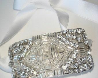 Rhinestone Cuff- Dallas, Bridal Cuff, Wedding Cuff, Accessories, Cuff, Cuff bracelet, Bridal Headpiece, Bridal Accessories, Gatsby