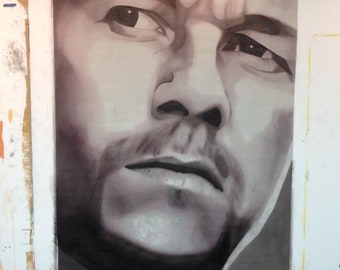 Painting of Mark Wahlberg