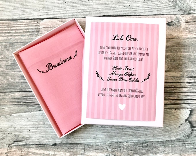 Gift Brautoma for wedding-handkerchief for tears of joy