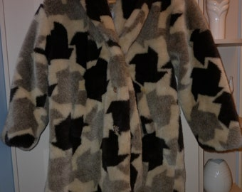 Vintage American Fake Fur Coat Size 14 Great Condition