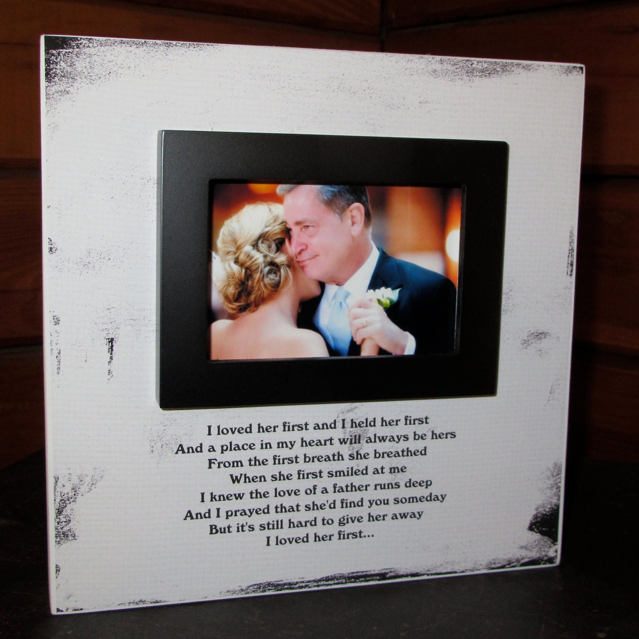 Father of the Bride Dad Wedding Picture Frame Wood box Frame I loved ...