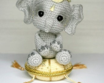 Elfin Thread- Elil, the Chibi Elephant PDF Amigurumi Pattern (Elephant Crochet Pattern)