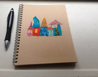 Hand decorated MUJI Notebooks with Magical villages
