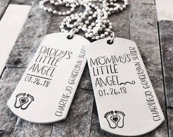 Angel Baby Necklace Set - Pregnancy Loss Necklace - Baby Loss Jewelry - Miscarriage Necklace - Angel Necklace Set - Miscarriage Gift