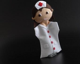 Nurse doll - nurse, toys, hospital, doctor and nurse, nurse toy, hospital decor -