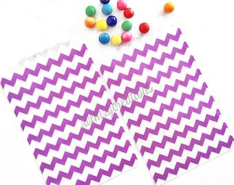 Purple Chevron Favor Bags   PURPLE Favor Bags   Purple Chevron bag (5x7)   Candy Favor Bags   Purple Birthday Party   Princess and A Frog