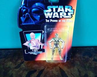 Star Wars Power of the Force C3PO 1990's Kenner