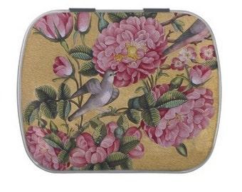 Tin Box with Camellia Design