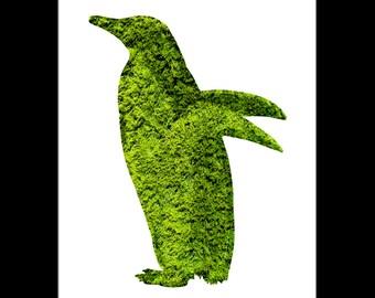 Penguin Topiary Print - Digital Download