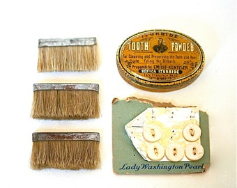 Somehow They Go Together - Vintage Buttons, Vintage Brushes, Vintage Tin