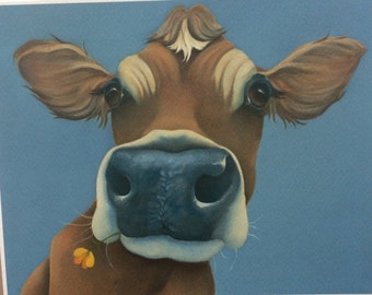 Buttercup the jersey cow painting