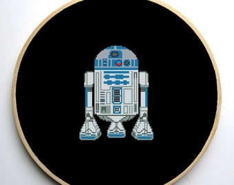 Star Wars Cross Stitch PDF pattern R2D2