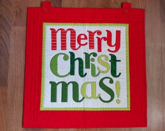 Merry Christmas Quilted Wall Hanging