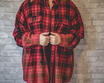 XXL red and black plaid flannel