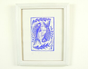 The Dancing Fish (Blue)