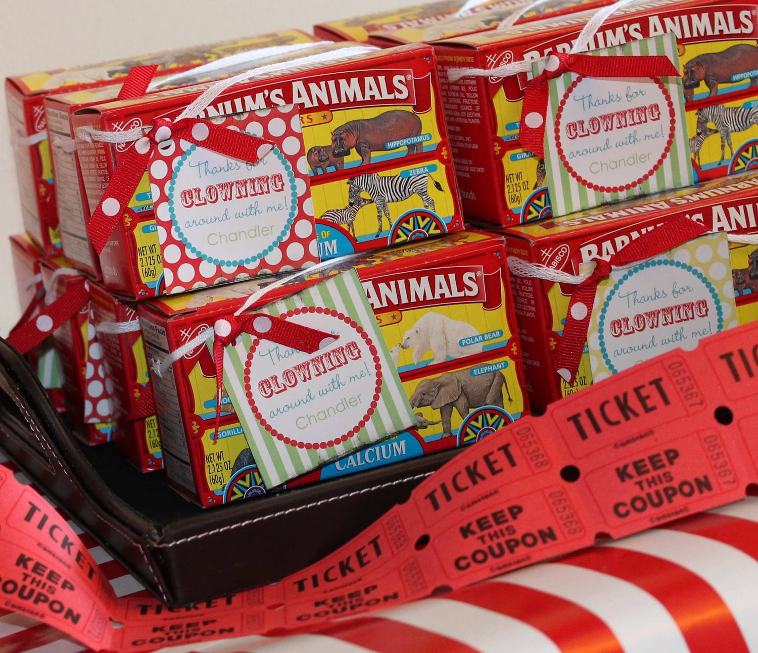 DIY Printable Vintage Circus FAVOR TAGS