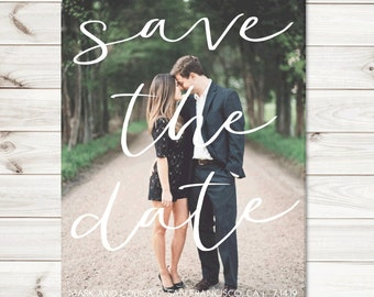 Printable Save the Date - Wedding Save the Date Custom Photo - Digital File - Photo Save the Date, Save the Dates, Wedding Photo, Photo Car