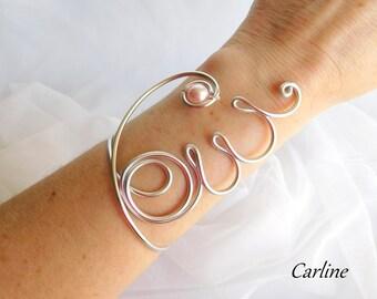 Yes - Aluminum wedding Bracelet Perle Swarovski Pearly light powder pink