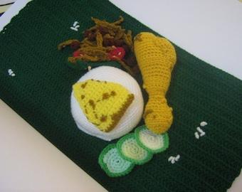 Crochet Food Pattern Rice Set Crochet Pattern PDF Instant Download Nasi Lemak (Coconut Rice Set Meal)