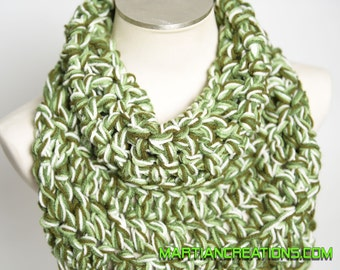 Crochet Turtleneck Scarf, Knitted Turtleneck Scarf, Chunky Scarf, Chunky Cowl