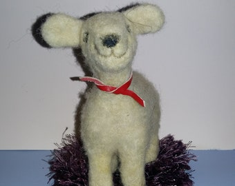 Felted sheep toy
