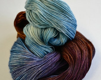 Hand dyed yarn pick your base - Rocky Shore - sw merino cashmere nylon fingering dk worsted