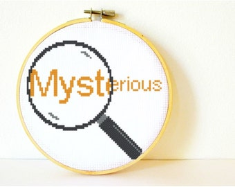 Counted Cross stitch Pattern PDF. Instant download. Mysterious. Includes beginners instructions.